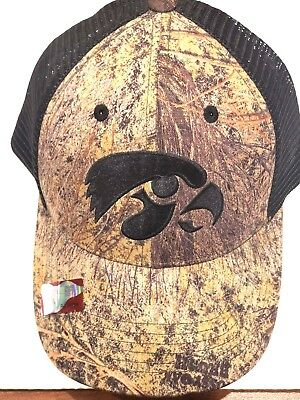 finest selection 6cd1b f0655 OFFICIALLY LICENSED UNIVERSITY IOWA ( HAWKEYES ) Mossy Oak CAMO HAT CAP NCAA