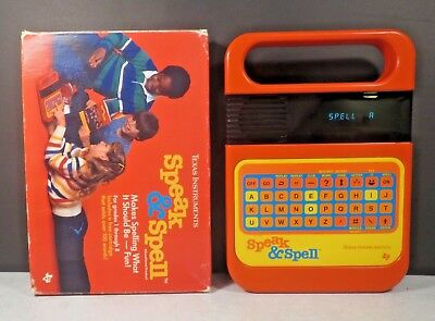 Vintage Texas Instruments Speak And Spell 1978/1980 TI Tested Works Minty Box