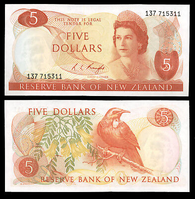 New Zealand p165c 5 Dollars ND Uncirculated UNC