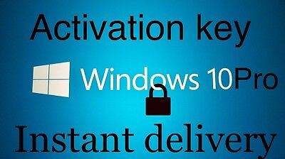Microsoft Windows 10 Professional Pro 32 64 bit LICENSE KEY & Instant Delivery