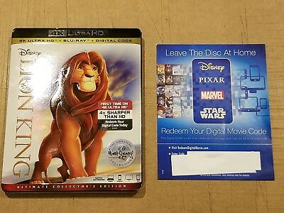 Disney The Lion King UHD Digital Code ONLY from 4K package