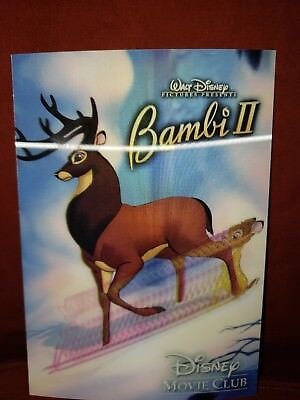 Disney Movie Club 3d Lenticular Card ~ Bambi 2~ RARE