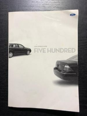 2005 ford five hundred sel owners manual