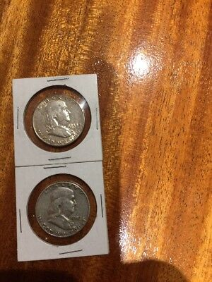 1948p & 1952p Franklin Half Dollars