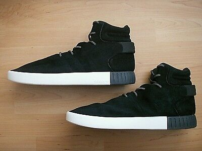 Nice! ADIDAS ORIGINALS TUBULAR INVADER S80243 MENS BLACK SUEDE HIGH TOP SHOES 13