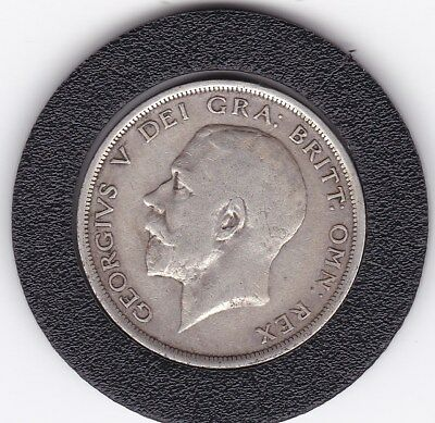 1919   King  George V  Half  Crown  (2/6d) -  Silver  92.5%  Coin