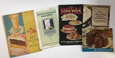 Vintage Desserts & Recipes Cook Books Booklets W Ads Advertisment Great Graphics