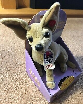 "TACO BELL Talking Chihuahua Plush Dog 12 Inch ""Yo Quiero Taco Bell"" NEW NWT"