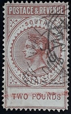 Rare 1886- South Australia £2 Venetian red Postage&Revenue stamp Used Postally