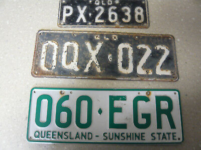 3 different Qld number plates