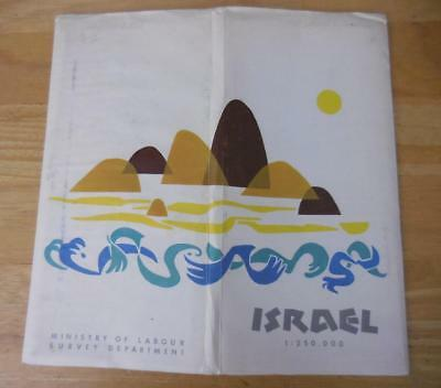 ISRAEL Large North & South 1963 Maps by Ministry of Labour Survey Dept 1:250,000