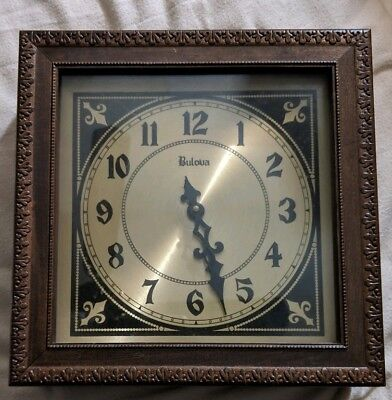 Bulova Westminster Chime Mantle Wood & Glass Clock.