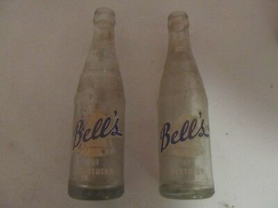 2-Bell's Of Kentucky Soda Pop Bottles, Paris, Kentucky, 1957 & 1959