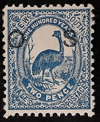 1888- NSW Australia 2d Prussian Blue Cent of NSW Stamp O S O/P Perf 12 Mint