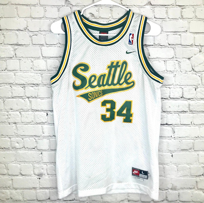 Seattle Supersonics Ray Allen Basketball Jersey Throwback Swingman  34 White 7a1429421