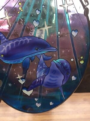 Dolphin Glass Light Catcher And Dolphin Figurine