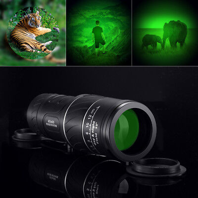 Day Night Vision 40X60 HD Hunting Camping Hiking Telescope Optical Monocular NEW
