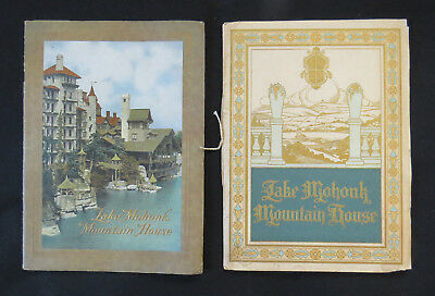 Lake Mohonk Mountain House 1908 & 1911 - 2 Complete Travel Brochures Books Nice!