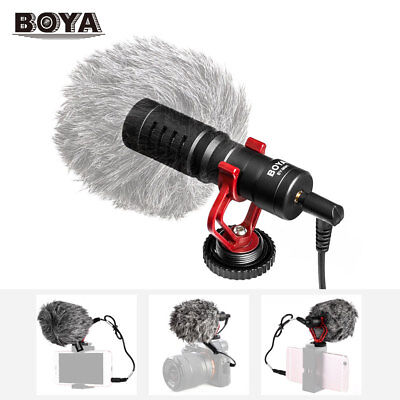 BOYA BY-MM1 Cardiod Condenser Shotgun Mic Microphone For iPhone Samsung Camera