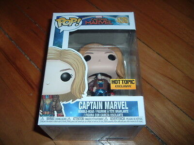 Funko Pop! Captain Marvel #435~ Hot Topic Exclusive~ New~ Mint~ Marvel Series~