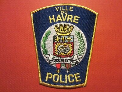 Collectible Montana Police Patch, Ville Du Havre, New