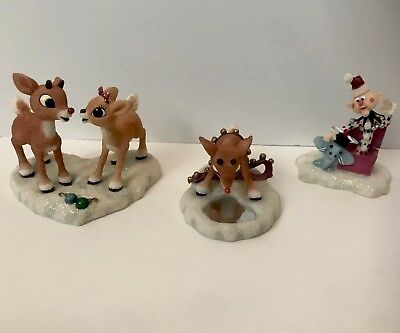 Rudolph and the Island Of Misfit Toys Lot of 3 Figures Rudolph Clarice Charlie