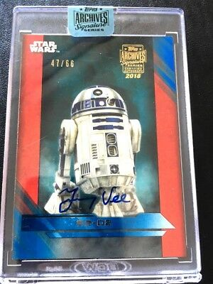 2018 Topps Archives Signature Star Wars R2-D2 Jimmy Vee Autograph AUTO 47/66