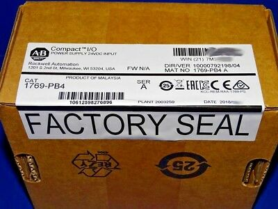2018 FACTORY SEALED Allen Bradley 1769-PB4 /A CompactLogix DC Power Supply