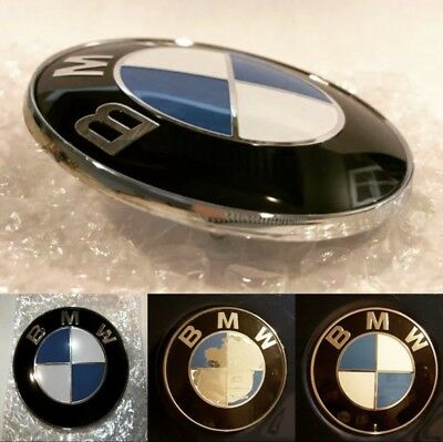 BMW Emblem 82mm Genuine Hood/Trunk Replacement -(2 Pin)