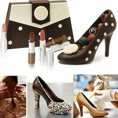 3D High Heel Shoes Chocolate Candy Cake Mould DIY Decoration Jelly Ice Soap Mold