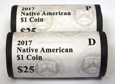 2019 P & D  Native American Dollar  2 Rolls  The Space Program   **PRE-SALE**