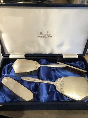 Silver Mappin & Webb Dressing Table Set