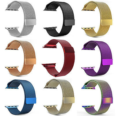 Luxury Stainless Steel Magnetic Milanese Loop Band Strap for Apple Watch 38/42mm