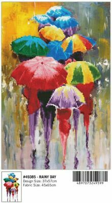 Diamond Dotz Diamond Art, RAINY DAY, 5D Embroidery Facet Art Kit, 37 x 57cm