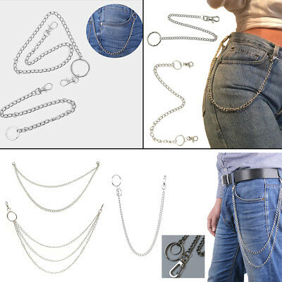 New 10 Styles Street Big Ring Key Chain Trousers Pants Keychain Accessories