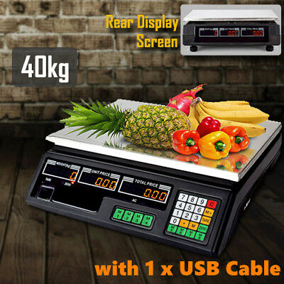 40KG Fruit Scale Electronic Digital Food Veg Weighing Price Retail Shop Market