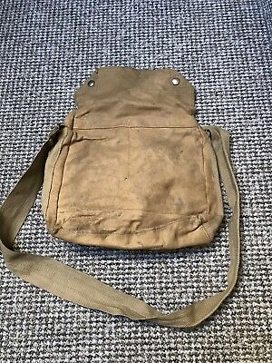 Respirator Haversack Bag, Rubberised, Odd Pattern. Mark V. WW2 Home Front BEF
