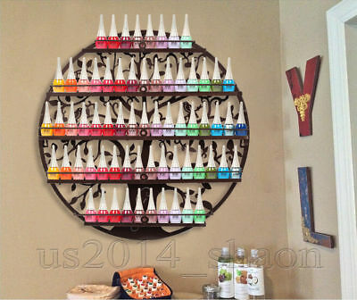 5 Tier Round Nail Polish Display Shelf Mounted Cosmetic Tree Holder Rack Stand