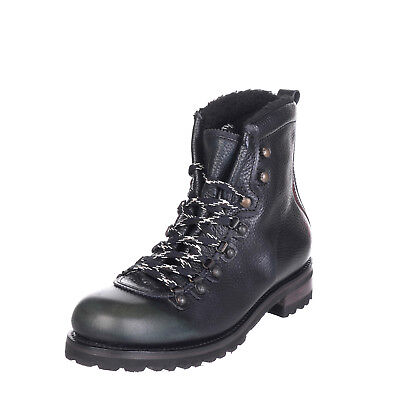 DSQUARED2 Leather Combat Boots Size 43 UK 9 Faux Fur Made in Italy RRP €549