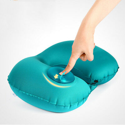 U-Shape Automatic Inflatable Travel Pillow Neck Pillow Car Air Inflatable