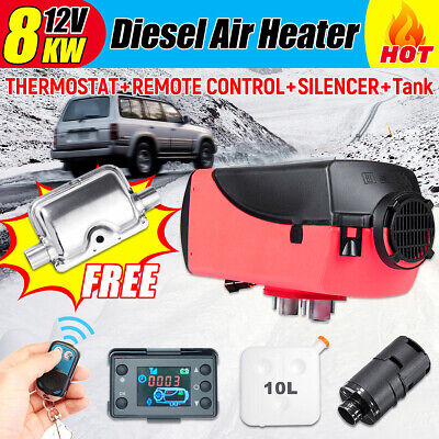 8KW 12V Diesel Air Heater LCD Thermostat 8000W Quiet For Trucks Boat Car US
