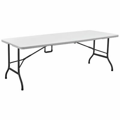 Blow Moulded Garden Camping Portable Rectangular Folding Table - 6ft