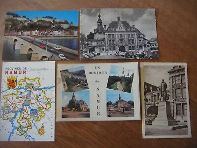 Lot de 5 cartes postales : NAMUR ( Jambes / Bourse de commerce / Province ...