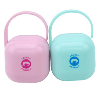Baby Portable Travel Soother Pacifier Dummy Storage Case Box Cover Container 6A
