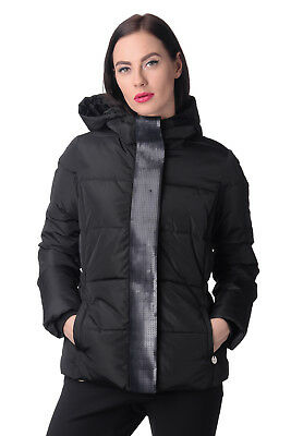 MET & FRIENDS Quilted Jacket Size XS Embellished Flap Double Cuffs RRP €220