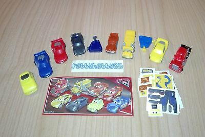Disney Cars 3 Complete Set With All Papers Kinder Surprise 2018