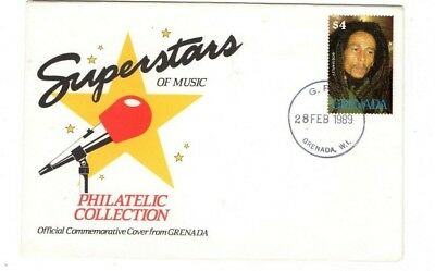1989 Grenada -  Superstars Of Music - Bob Marley Fdc From Collection 6/27