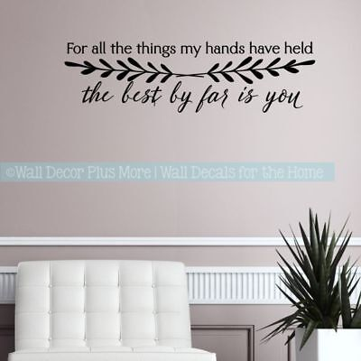 Master Bedroom Decor Love Decal Quotes Best By Far Is You Vinyl Art Wall Sticker