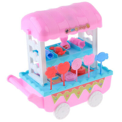 28 PCS Pretend Play Ice Cream Candy Shop Trolley Set Kids Baby Role Play Toy