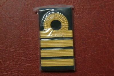 Official Rn Shoulder Marks , Captain , Sealed Pair